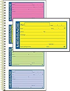 Adams High Impact Phone Message Book, 2-Part Carbonless, 5-1/4