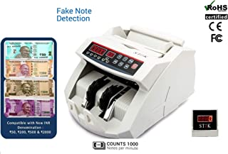 StoK ST-MC01-S Compatible with Old & New INR- Rs.10, 20, 50,100,200, 500 & 2000 Notes Counting Machine with Fake Note Detector