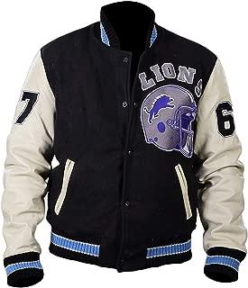 Men's Eddie Murphy Cotton Fleece Vintage Sports 90210 Letterman Cop Jacket
