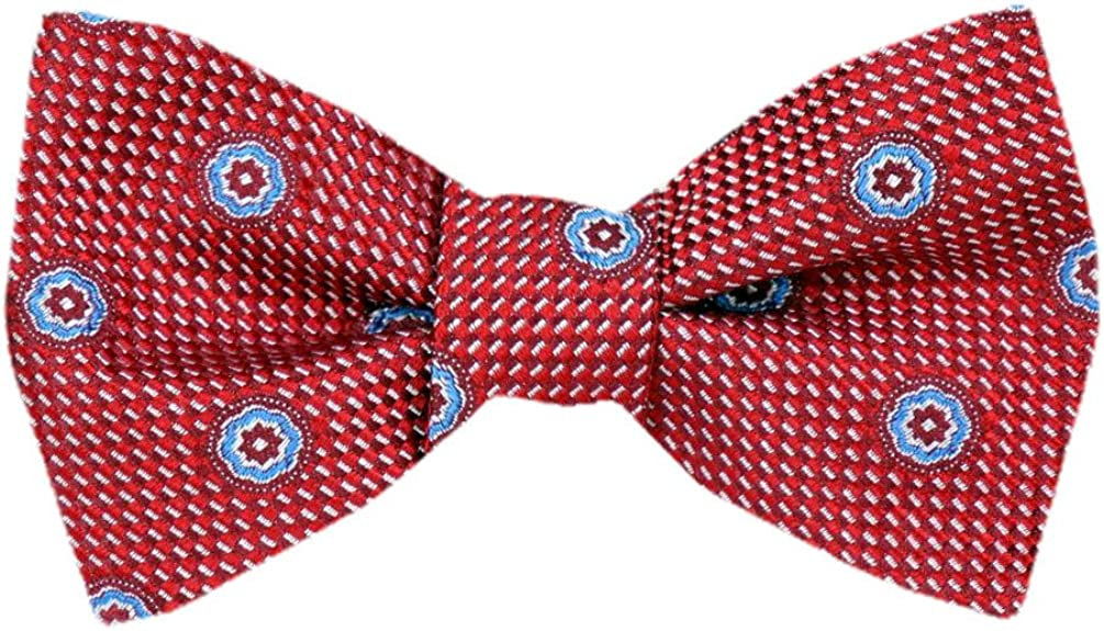 Men's Red Burgundy Silk Self Tie Bowtie Tie Yourself Bow Ties