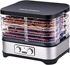 Fruits and vegetable dehydrator Low noise and low power consumption.Food dehydrator with 5 Trays, Knob 250Watt.applies SG-320A,Temperature Control, automatic operation,5-Layer Stackable ,Height Adjustable ,Food Dryer with Quick Heating Circulation System.Essential household kitchen assistant,make your life more exciting.