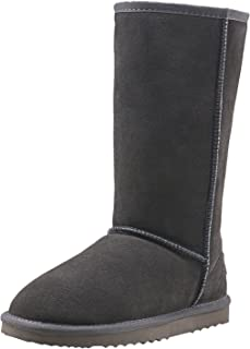 AUSLAND Women's Water Resistant Classic Leather Mid-Calf Snow Boots 5125