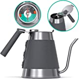Gooseneck Kettle - Coffee Gator True Brew Coffee Kettle - New 2019 Model - Integrated Thermometer