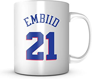 JOEL EMBIID #21 Mug Philadelphia Basketball - Jersey Number Coffee Cup