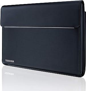 """Toshiba, Custodia per Notebook 14"""", Compatibile con Tecra X-Series, in finta pelle e Poliestere, Colore Nero"""