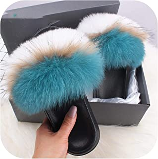 plage Fashion Slides Slippers Summer Flip Flops Casual Furry Sandals Plush Shoes