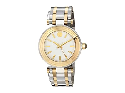 Tory Burch Classic T Bracelet Watch (Two-Tone Silver/Gold TBW9005) Watches