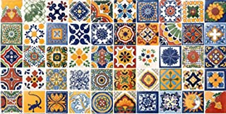 50 Hand Painted Talavera Mexican Tiles 4x4 Spanish Mediterranean