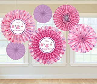 Shower with Love Girl Paper Fan Decorations
