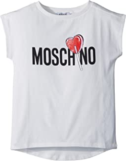Moschino Kids - Short Sleeve Logo Lollipop T-Shirt (Big Kids)