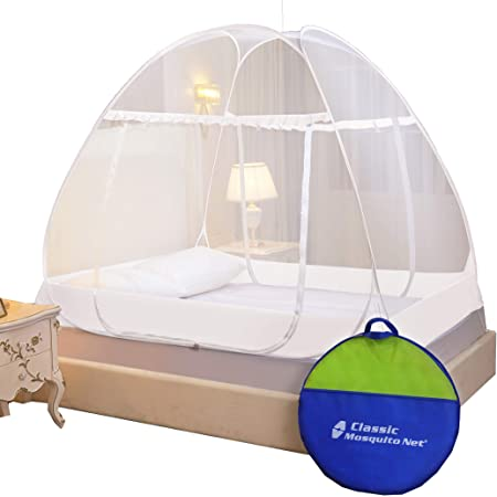 Classic Mosquito Net ,King Size Bed ,Premium Foldable Polyester - White.