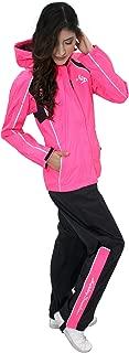 HARLEY-DAVIDSON Womens Hi-Vis Reflective Waterproof H-D Script Pink Rain Suit 98362-15VW