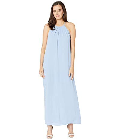 American Rose Scarlett High Neck Maxi Dress (Blue) Women
