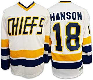 Mad Brothers #18 Hanson Charlestown Chiefs Slapshot Movie Officially Licensed Hockey Jersey Made in Canada