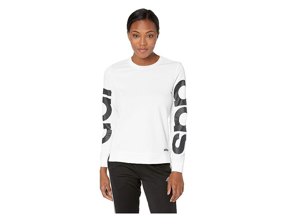 adidas Essentials Branded Sweatshirt (White) Women