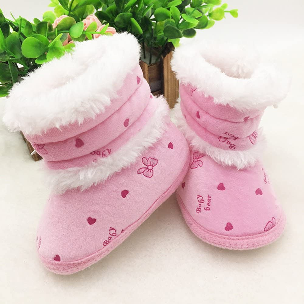 Baby Booties Newborn Girl Boy Winter Warm Snow Boots Baby Shoes Anti Slip Soft Sole Toddler Infant First Walking Shoes