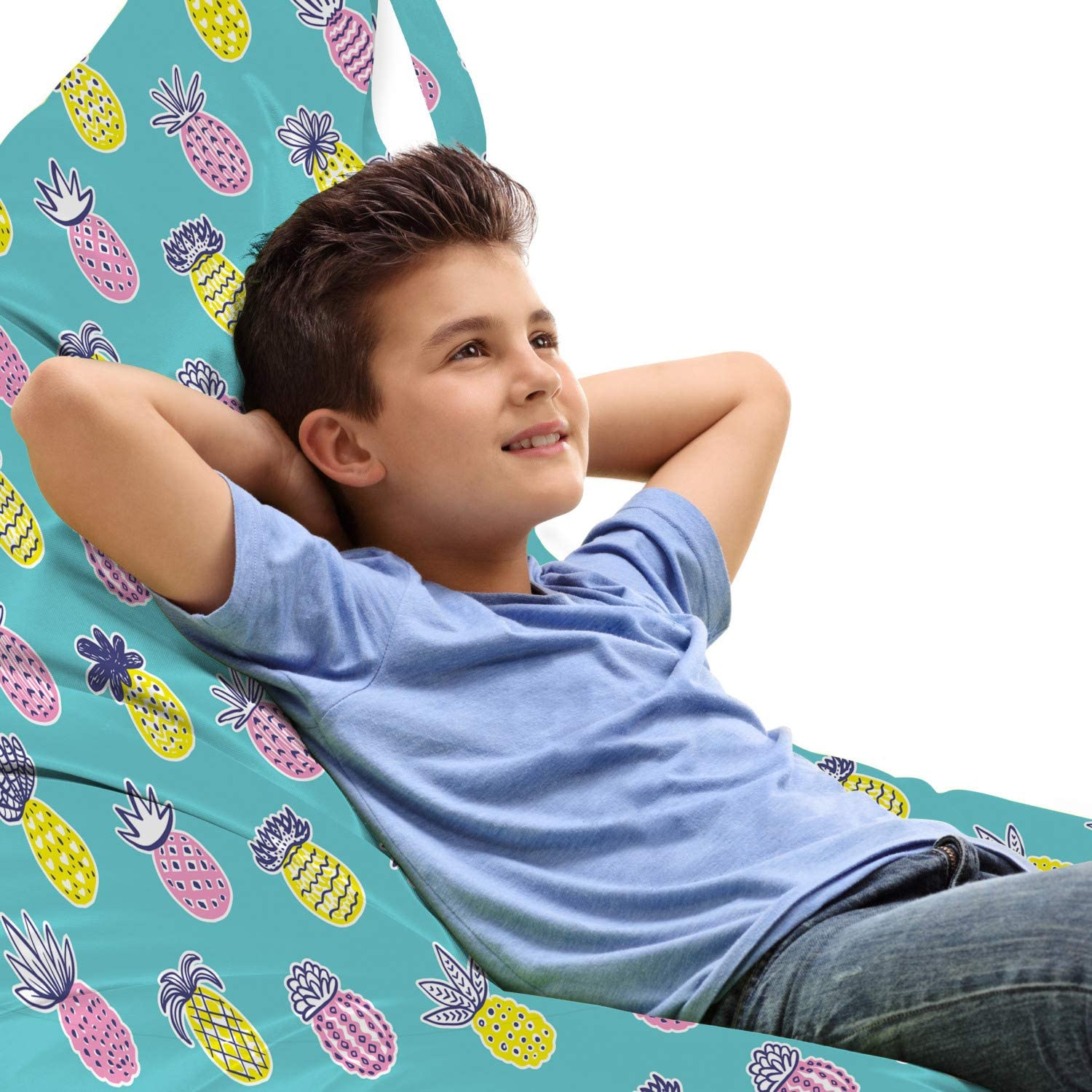 Lowest price challenge Ambesonne Fruits Ranking TOP8 Lounger Chair Bag in Tropical Pastel Pineapple