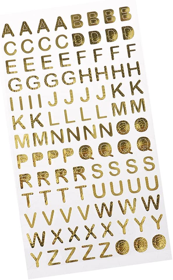 Homyl Metallic Number Superior Letter Gift Alphabet Sticker Self Outlet ☆ Free Shipping Adhesive