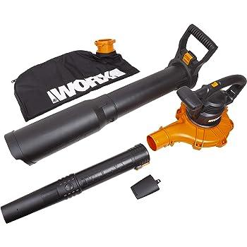 """WORX WG518 12 Amp 2-Speed Leaf Blower, Mulcher & Vacuum, 10"""" x 11"""" x 40"""", Orange and Black"""