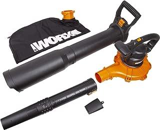 WORX WG518 12 Amp 2-Speed Leaf Blower, Mulcher & Vacuum, 10
