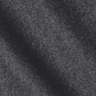 TELIO Wool Blend Melton Fabric by The Yard, Charcoal