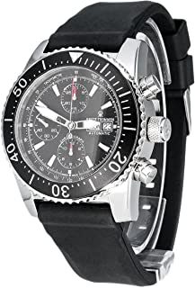Revue Thommen - Diver Professional Automatic Chronograph 17030,6534 - Reloj cronógrafo automático para Hombre, Correa de Goma Color Negro (cronómetro)