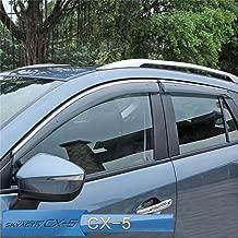 Vesul Updated Side Window Visor Rain Sun Deflectors Guard Vent Shade Smoke Gray Compatible with Mazda CX-5 CX5 2017 2018 2019