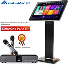 InAndOn KV-V5 Plus Karaoke Player, Free Wireless Mic, 19.5 inch Touch Screen 8TB HDD, Home Entertainment Online movie Intelligent Song-selection Free Cloud Download, UrbanDrama KV-V5 Pro KTV Machine