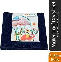 OYO Baby Waterproof Bed Protector Baby Dry Sheet, Large, Dark Blue (140 cm x 100 cm)