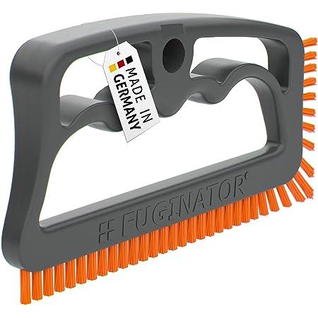 Fuginator® Brosse à joints gris/orange, innovation 100% recyclée - nettoyage des joints à la maison, breveté et certifié Ange Bleu