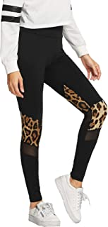 Women's Stretchy Skinny Sheer Mesh Insert Workout Leggings Yoga Tights