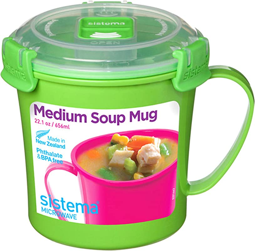 Sistema Microwave Soup Mug 2 8 Cup Medium