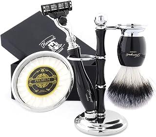 Szczotka do włosów z czystego srebra z borsukiem w kolorze czarnym zawiera maszynkę do golenia, uchwyt, oszczędzającą misk...