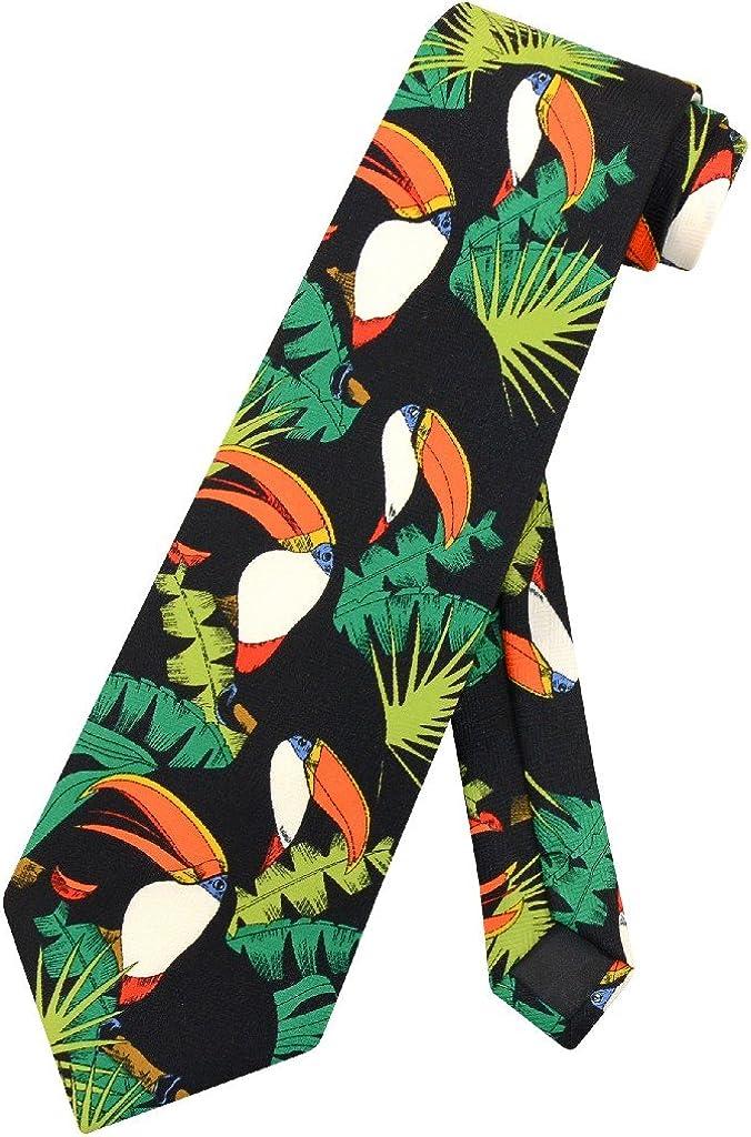 Toucan Birds OFFicial site Indefinitely NeckTie Toucans in Design Tie Mens Neck Trees