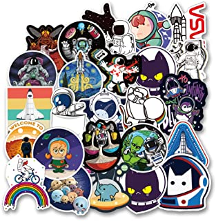 New NASA Stickers for Laptop [100PCS], Space Explorer Galaxy Vinyl Decals for Water Bottle Hydro Flask Car Bike Bumper Skateboard Luggage, Spaceman Spacecraft Universe Planet Logo Graffiti Sticker