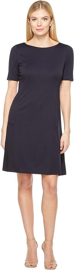 Elbow Sleeve Flounce Dress