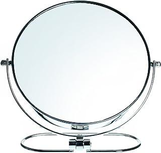 HIMRY Plegable Doble Cara Espejo cosmético 8Inch, Aumento 10x, Giratorio 360°. Espejo Cosmético–Espejo de Mesa, 2Espejo: Normal y 10–aumentos, Cromado, kxd3125–10x
