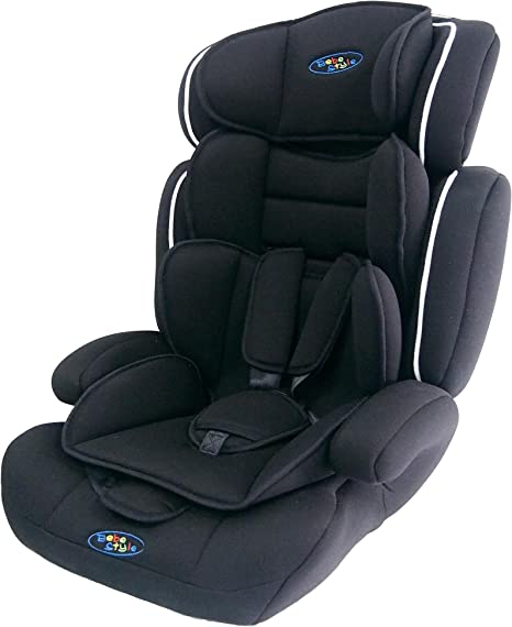 Bebe Style Car Seat, Convertible, Group 1 2 3, 9-36 kg, 9 Months to 12 Years, Combination Booster & Child Seat, with ECE R44/04 Certification, Black: image