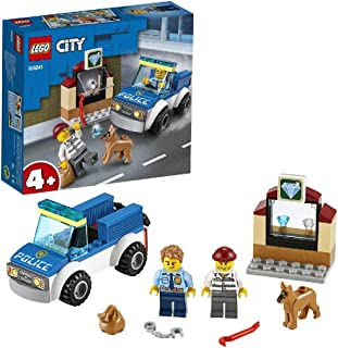 LEGO City Police - Policía: Unidad Canina, Set de Construcción, Incluye Coche de Policía de Juguete, Agente de Policía y Perro Policía, un Escenario de Joyería, y un Ladrón (60241)