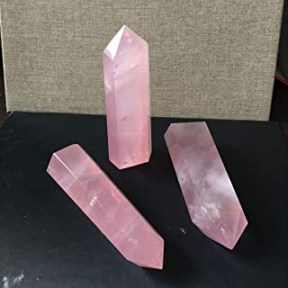 Gotian 40-50mm Natural Rock Pink Rose Quartz Crystal Wand Point Healing Mineral Stone,Decro Your Home