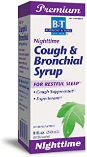 Nature's Way B&T Nighttime Cough & Bronchial Syrup for Restful Sleep Homeopathic, Purple, Cherry 8 Fl Oz