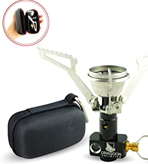 Dragoon Unlimited Backpacking & Survival Single Burner Camp Stove - Lightweight & Compact - Compatible with Propane, Butane & Isobutane Canisters - Survival Kit for Emergency, Hurricane, Earthquake