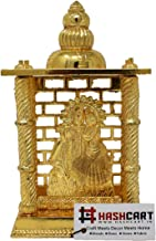 Hashcart Radha Krishna Mandir- Brass Plated Especially for Diwali Puja and Gift Purpose