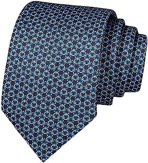 Fascigirl Fashion Wide Jacquard Printed Neck Tie Decor Christmas Tie Formal Tie for Men