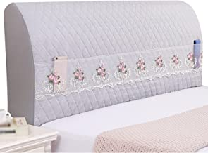 All-Inclusive Universal Headboard Cover for Bed Back Soft Protector Cover (Color : Grey, Size : 120x60cm)