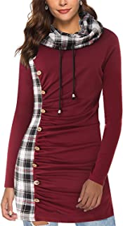 Best plaid sweatshirt dress Reviews