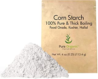 Corn Starch (4 oz.) by Pure Organic Ingredients, Thickener For Sauces, Soup, Gravy, Highest Quality, Kosher, USP & Food Grade, Vegan, Gluten-Free, Eco-Friendly (Also in 8 oz,1 lb, 2 lb, 3 lb)