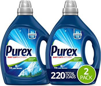2-Pack Purex Mountain Breeze 2X Concentrated Liquid Laundry Detergent