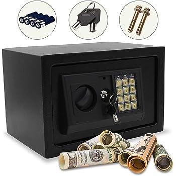 Hengda Caja Fuerte electrónica 31x20x20 cm para Oficina o Uso ...