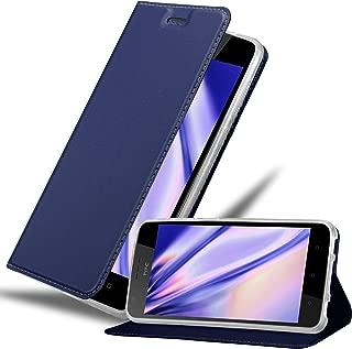 Cadorabo Book Case Works with HTC Desire 10 Lifestyle/Desire 825 Wallet Etui Cover CLASSY DARK BLUE DE-122333